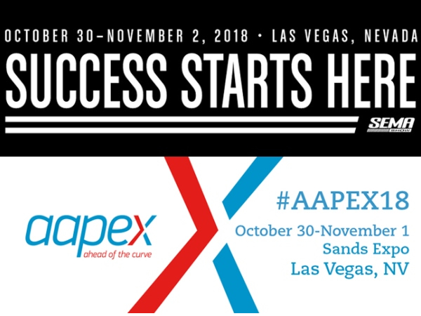 SEMA & AAPEX Trade Show Exhibitions Confirmed for 2018